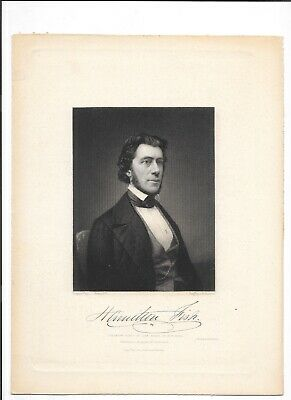1848 Hamilton Fish New York Governor Congress Brady AH Ritchie Engraving Dunnell