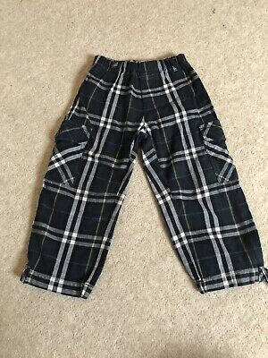 Boys Genuine Burberry Trousers Age 2 Years