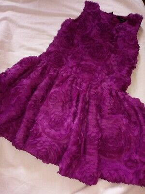 Marks and Spencer M&S autograph girls Purple party dress age 5-6 Years