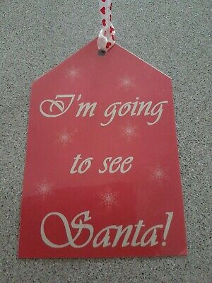 Handmade Lapland Santa North Pole Luggage Label Tag Reveal