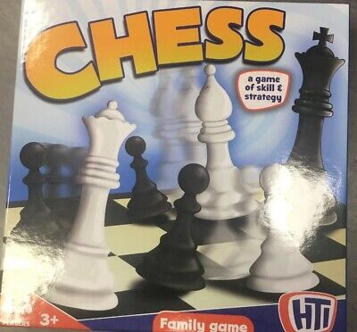 Brand new HTI CHESS BOARD TRADITIONAL SET GAME KIDS ADULT STRATEGY CLASSIC TOY