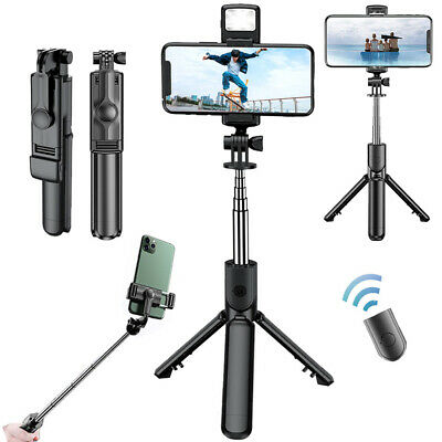Extendable Bluetooth Remote Selfie Stick Tripod Holder Mount For iPhone Samsung