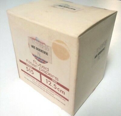 Filtration Sciences 515 Pleated Fluted Filter Paper 12.5 cm Box Pack of 20