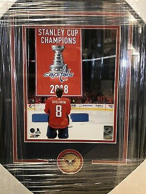 Alex Ovechkin Washington Capitals Stanley Cup Banner 8x10 Framed Photo - New!
