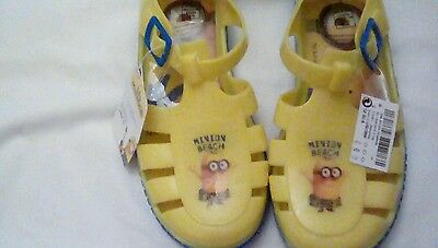 Next Infant Girls Minion beach Jelly Bean shoes Size 6 BNWT ***