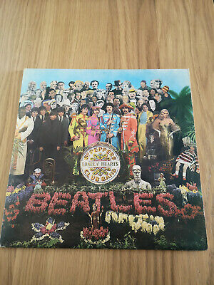 The Beatles SGT Peppers 1967 UK LP Gatefold Sleeve & Sheet Of Cut Outs