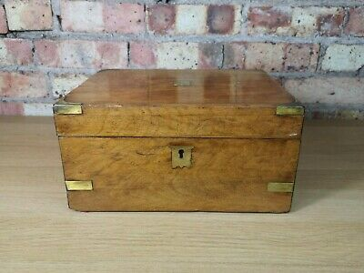 Antique Victorian Walnut Writing Slope c1890 with Secret Draw Compartment