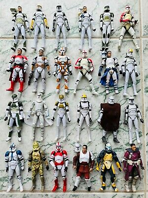 Star Wars 24 Clone Trooper Action Figure Lot, Loose, 3 ¾""