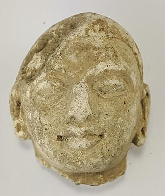 Indian / South East Asian Carved Stone Deity Head Fragment