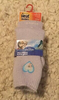 Disney Frozen Slipper Socks Girls Heat Holders Thermal Uk 9 - 12 Eur 26 - 30
