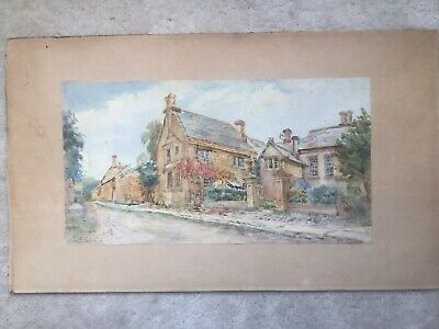Late 19Th Early 20Th Century Signed Watercolour Of Country House.