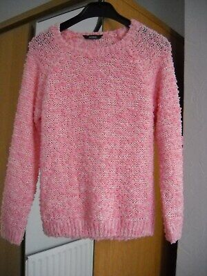 Girls George pink jumper 7-8yrs,122-128 cm, polyester blend,