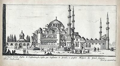Istanbul Constantinople Hagia Sophia Turkey mosque Israel Silvestre etching view