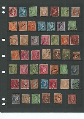 Collection Of 49 Different Greece  large Hermes Heads Unchecked Mixed Condition