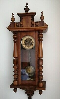 Antique German/Vienna Striking Wall Clock. Good Working Movement.