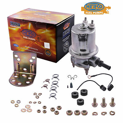 Herko Fuel Pump Universal Low Pressure 4-6 PSI 32 GPH P12B CARB 12 VOLTS