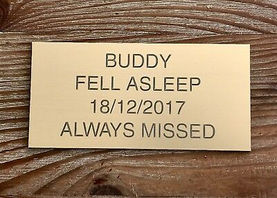 Brass or Silver Effect Personalised Engraved Memorial Plaque 75 x 35 mm