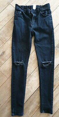 Next Black Ripped Skinny Jeans Age 13 Years