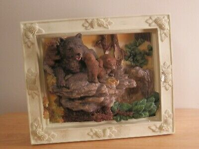 Classic Treasures Bear Family Musical Water Framed Fountain