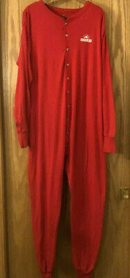 Mens RedHead Red One piece Long Johns underwear Union Suit NICE Warm size XL