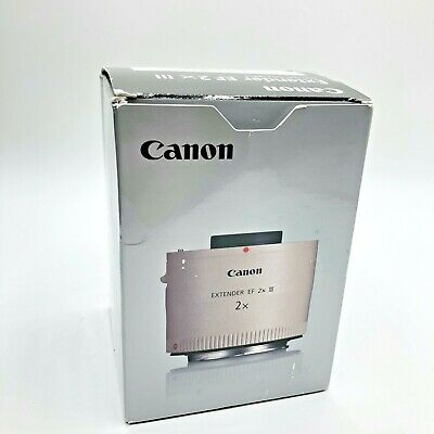 Canon Extender EF2x III Lens In Box Never Used 4410B002