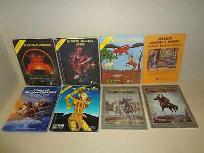 LOT Advanced Dungeons and Dragons TSR HANDBOOK Guide MONSTER MANUAL AD&D Vintage