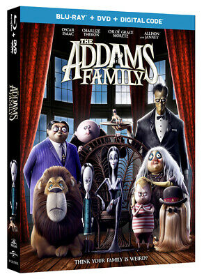 THE ADDAMS FAMILY New 2019 Animated Blu-ray Charlize Theron
