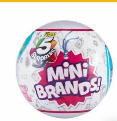 5 Surprise Mini Brands - 1 BALL - BY ZURU 100% AUTHENTIC   * 2019  HOTTEST TOY *