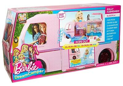 Barbie Dream Camper Adventure Camping Playset w/ Accessories Toys Kids Children