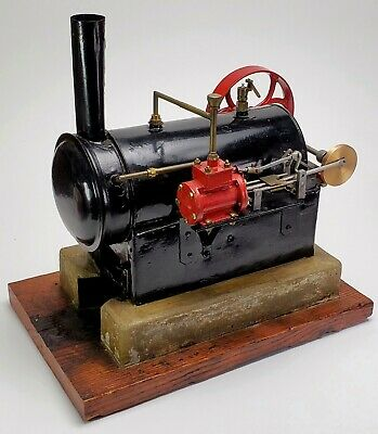 Antique /Vintage Large Model Toy Stationary Steam Engine, Cast-Iron, Brass