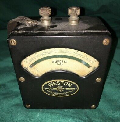 Vintage Weston Electrical Amperes AC Meter Model 433