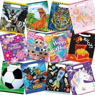 Party Loot Bags Kids Childrens Birthday Party Bags Cello Treat Favour Goody Bags