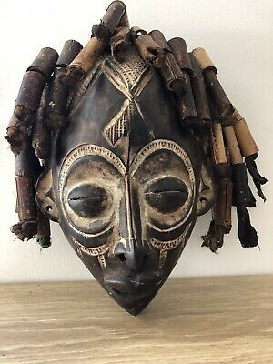 Hand Carved African Tribal Mask Wooden