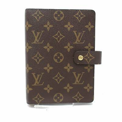 Authentic Louis Vuitton Diary Cover Agenda MM Browns Monogram 380004