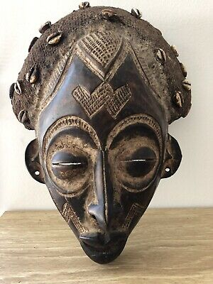 Hand Carved Tribal African Mask Wooden