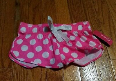 Girls S 6 6X Shorts Sleepwear Pink White Polka Dot's Pjs Pjamas