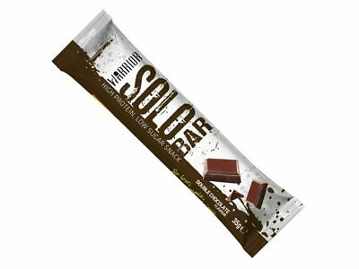 11X WARRIOR SOLO PROTEIN BAR DOUBLE CHOCOLATE LOW SUGAR 35g EACH 11g PROTEIN