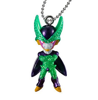 Dragon Ball UDM Best 32 Cell Perfect Form Character Capsule Mascot Key Chain