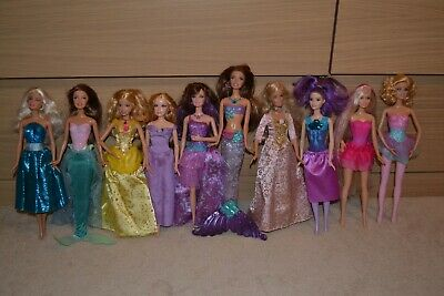 Bulk Lot Of 10 Princess And Fantasy Barbie Dolls Includes Singing Annalise