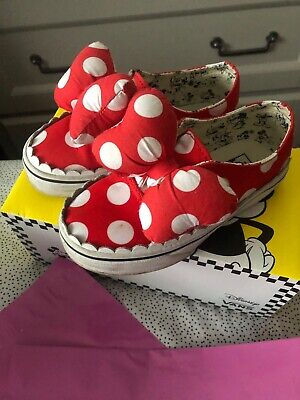 Kids Minnie Mouse Bow Disney Vans Uk Size 10 Limited Edition