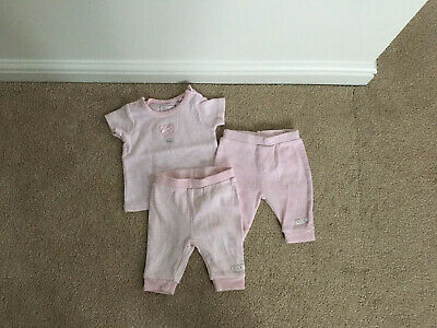 Baby Girls NEXT Pink Top and two pairs of trousers  Set Up To 1 Month