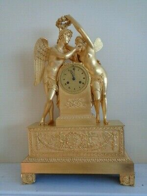 64cm TALL - A VERY LARGE ANTIQUE EARLY 19th CENTURY FRENCH ORMOLU CLOCK