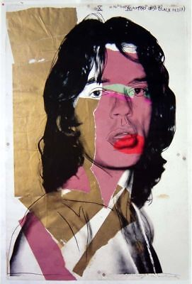 Andy Warhol - Mick Jagger - Farboffsetlithografie - signiert