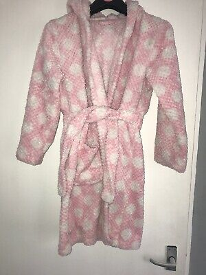 Girls George Pink And White Polka Dot Dressing Gown - Age 11-12