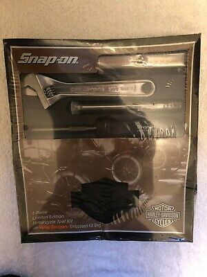 Snap On Harley Davidson 4 Pc Tool Kit With Embossed Bag Special Edition