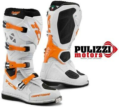 Stivali Motocross TCX Comp Evo White/Orange