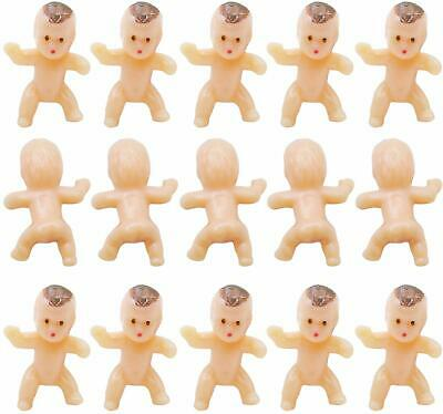 120 PCS Mini Plastic Babies Baby Shower Party Favor Ice Cube Game Party Decorations Baby Bathing and Crafting