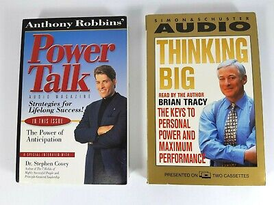 Anthony Robbins Power Talk of Anticipation Brian Tracy Thinking Big Cassettes