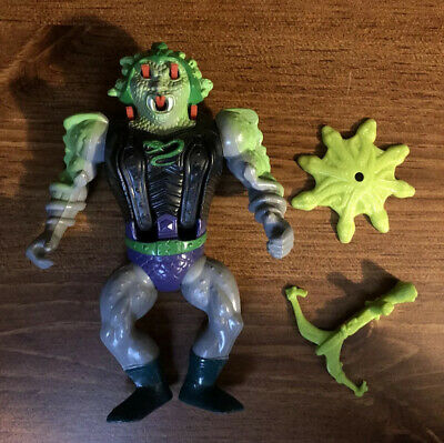 1986 He-Man Masters of the Universe SNAKE FACE - GREAT PAINT - WITH SHIELD