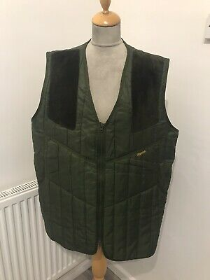 Barbour  Quilted  Shooting gilet waistcoat size L chest 46 Hunting